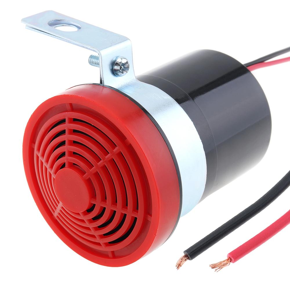 Black & Red 105dB Reversing Back up Alarm Horn Speaker Car Auto Loudspeaker Backup for Motorcycle Car Vehicle Automobile SUV