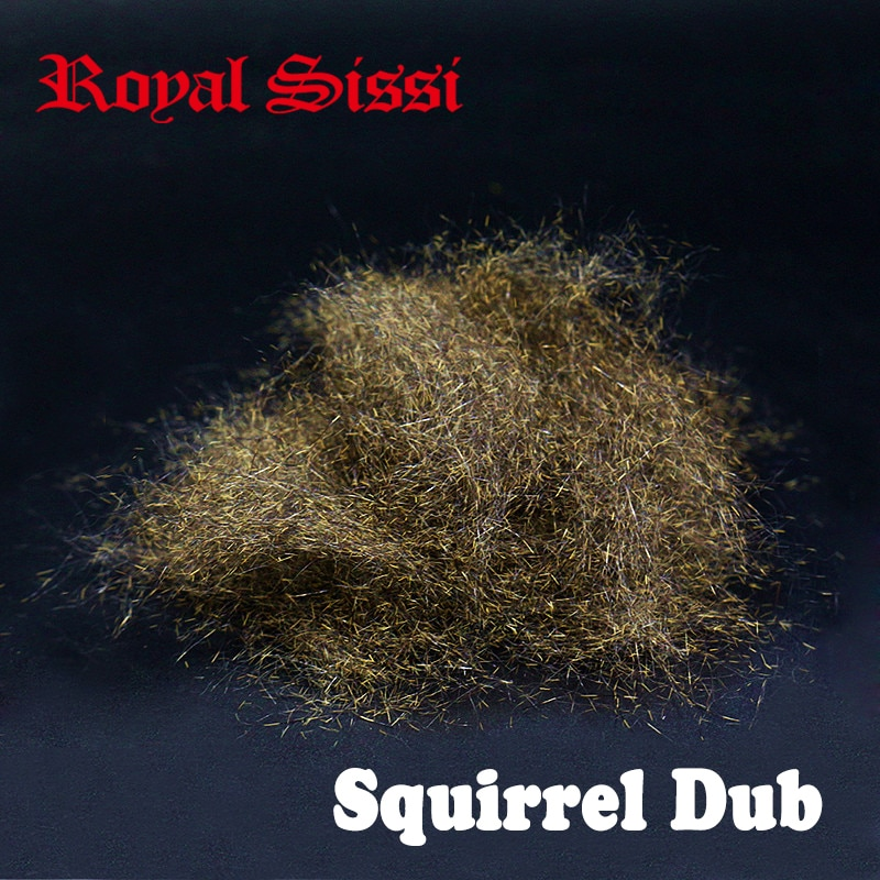 Royal Sissi hot total 4 gramos Gran volumen ardilla natural dub atado de moscas spiky Ninfa dubs sin teñir materiales de atado de moscas