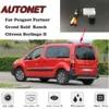 AUTONET-caméra de sauvegarde à Vision nocturne HD pour Peugeot Partner Grand Raid Ranch citroën Berlingo II et plaque d'immatriculation