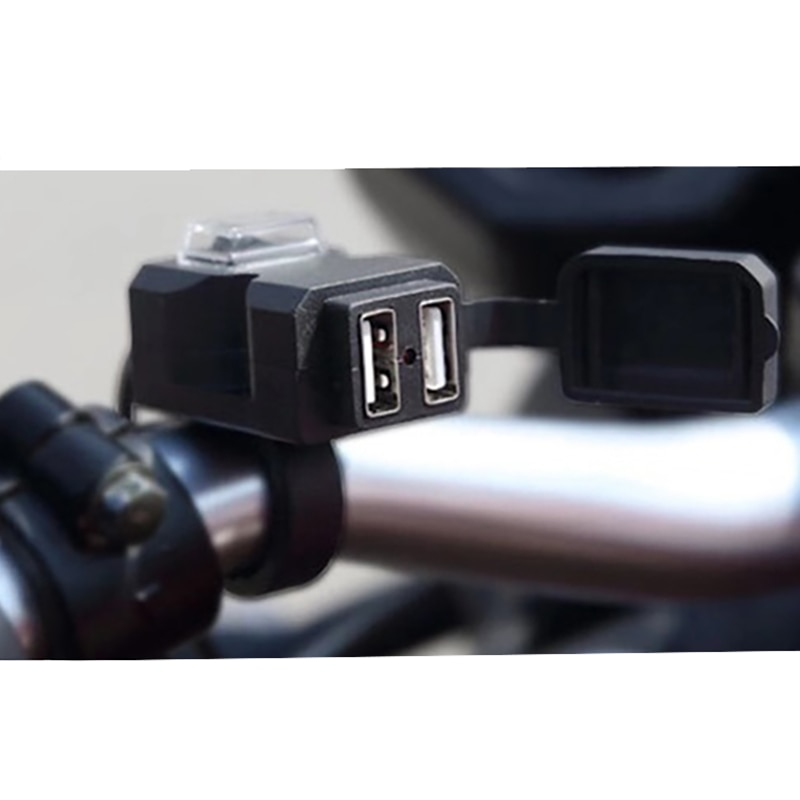 Universal Waterproof 9-90V Dual USB Car Motorcycle Socket Splitter Charger Power Port Adapter Motorbike Mobile Phone Charger 12V
