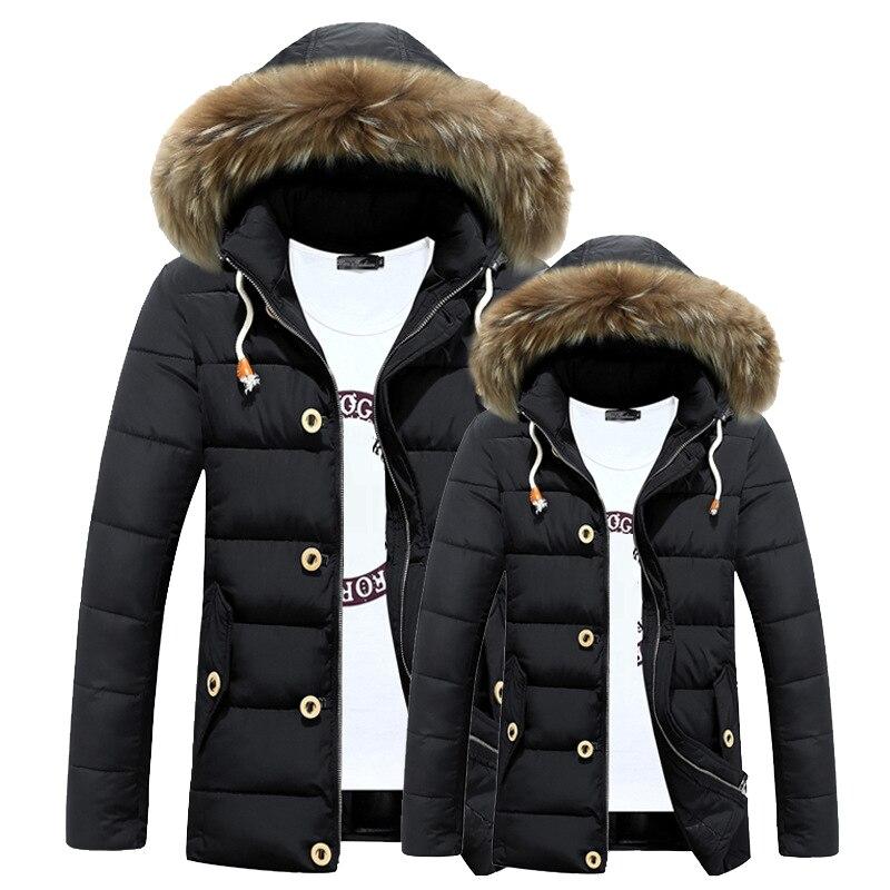 2021 Casual Thick Jacket Winter For Man With Fur Hood Long Waterproof Kurtka Przeciwdeszczowa Oddychająca Męska
