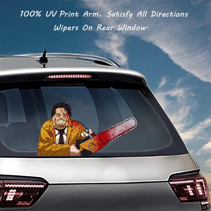 Calcomanía de limpiaparabrisas para coches de PVC, pegatinas de limpiaparabrisas traseras, calcomanías y calcomanías