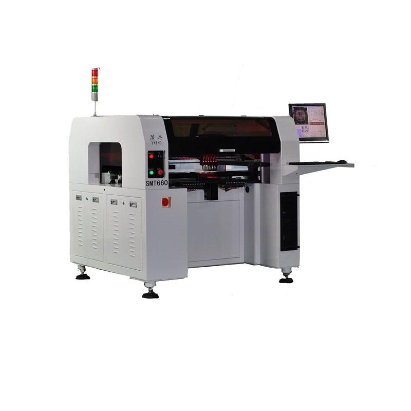 Nueva máquina de recogida y colocación SMD LED pequeña y automática de 6 cabezales, máquina de montaje con alimentador neumático Yamaha, montaje Led SMD