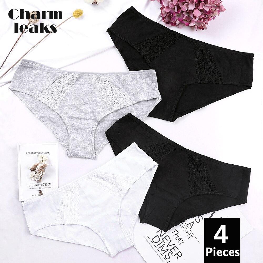 Charmfuit femmes culottes coton slips sous-vêtements doux couleur unie Breifs coton sous-vêtements doux femmes mode Hipster culottes