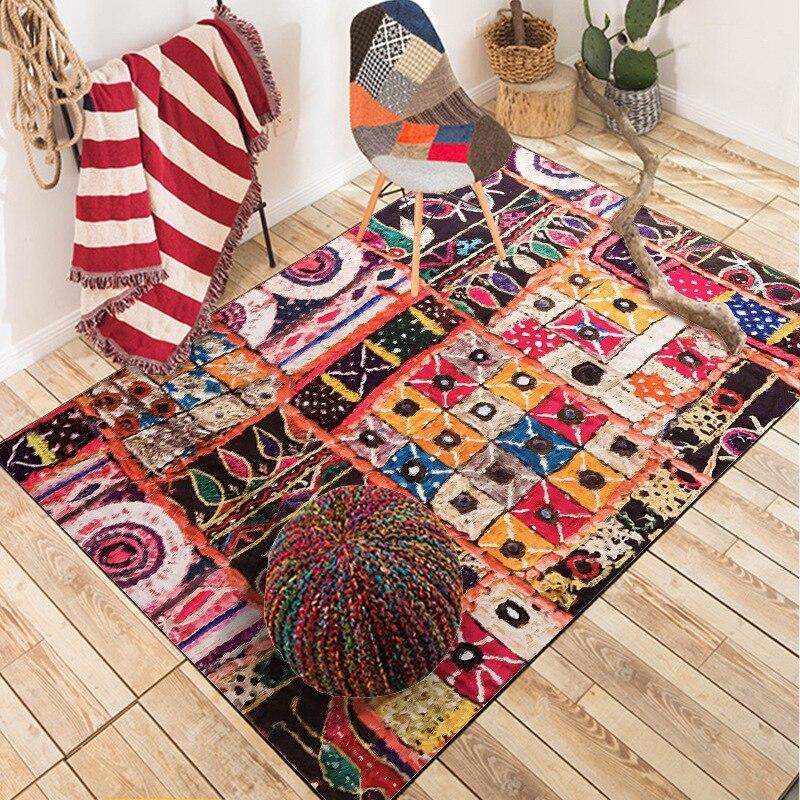 Morocco Style Rugs Fashion Luxury Living Room Decor Large Carpets Hallway Doormat Anti-Slip Bathroom Carpet Kitchen Floor Mat