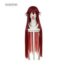 Ccutoo Black Butler Grell Sutcliff 100 cm Weibliche Dunkelrot Gerade Lange Hochtemperaturfaser Synthetische Cosplay Volle Perücken