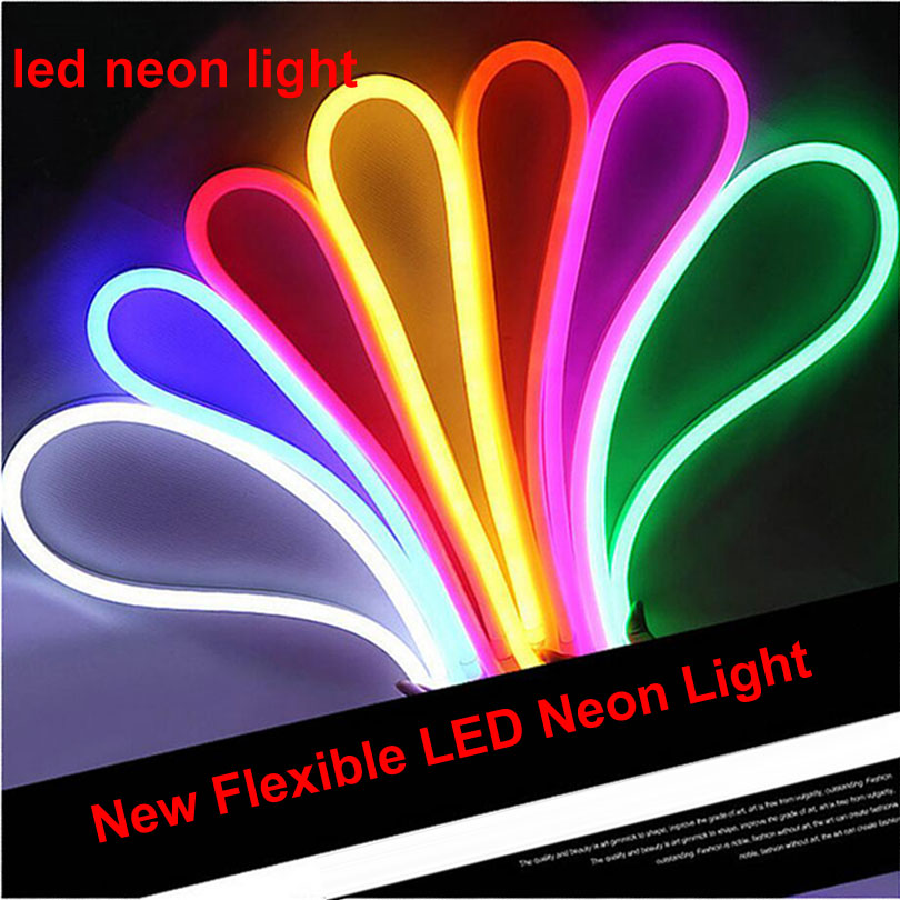 Tira de neón LED decorativa comercial RGB 220 V/110 V cinta de neón flexible tubo Solt impermeable al aire libre con enchufe 10M