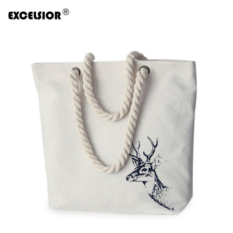 Excelsior marcas famosas bolsa feminina animal impressão bolsas lona tote feminino casual praia sacos bolsas de ombro