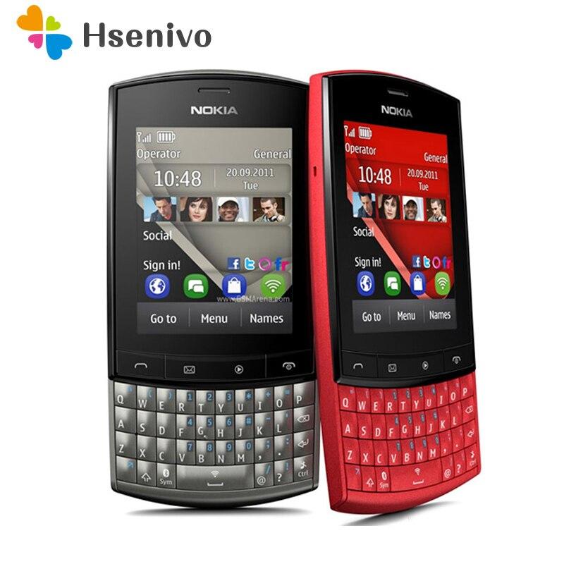 Nokia Asha 303 Восстановленный Оригинальный разблокированный мобильный телефон Nokia asha 303 мобильный телефон 2,4 дюйма 3G Bluetooth MP3 сотовый телефон 1300 мАч Бесплатная доставка