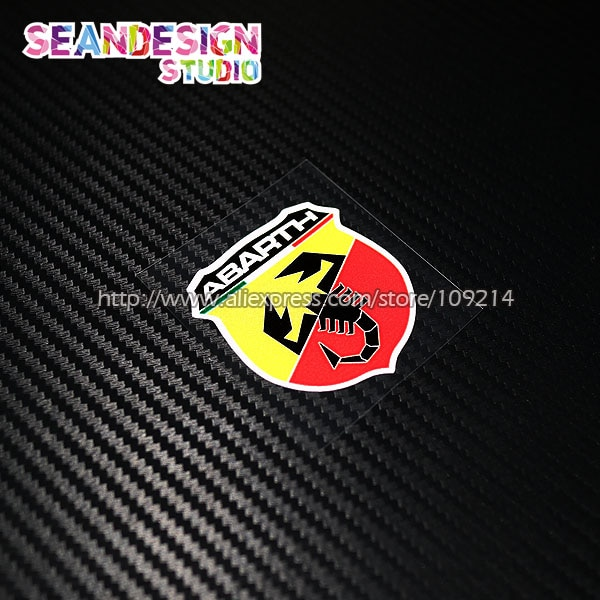 Pegatinas impermeables para Fiat Abarth Scorpion Punto 500 Panda Bravo