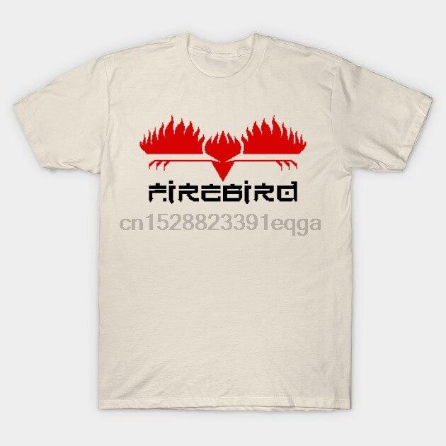 Camiseta de manga corta para hombre Firebird Software Retro Games Logo pixellado Commodore 64 camiseta para mujer