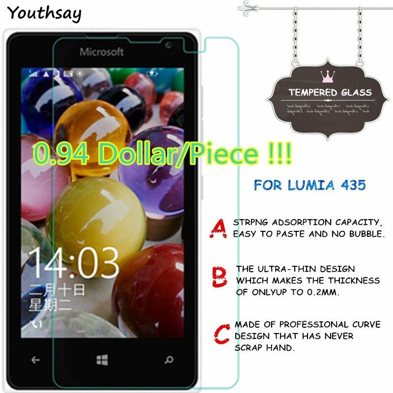 2 uds. De vidrio templado para Lumia 435, Protector de pantalla para...