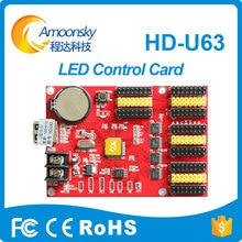 Pantalla de 5 colores p10 panel modulo led rojo azul amarillo verde blanco uso tarjeta de control de pantalla led u63