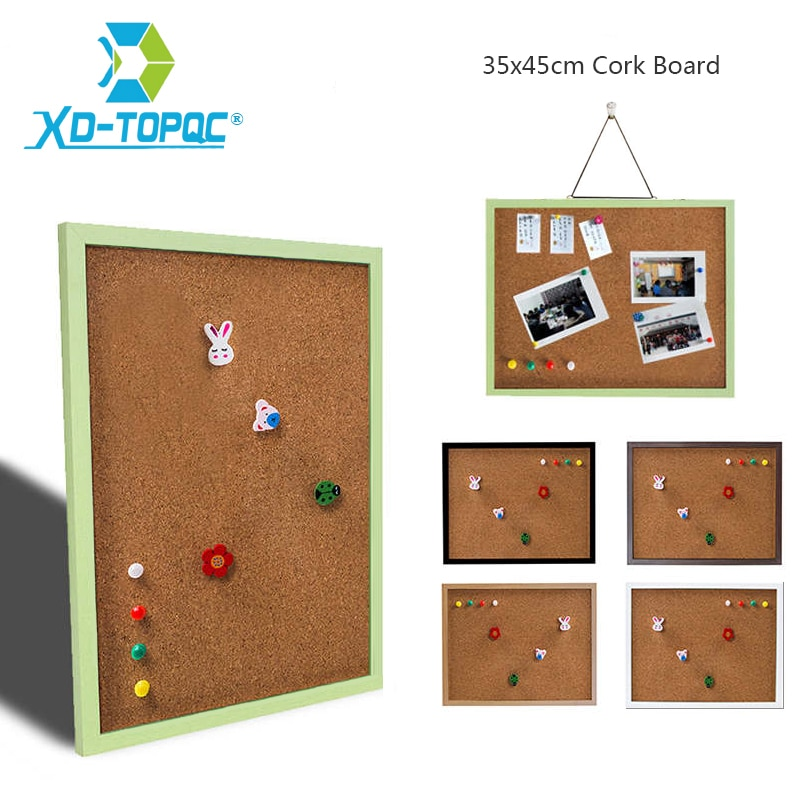 35*45cm Wood Frame Bulletin Cork Board 11 Colors Memo Photos Pin Cork Boards For Notes With Free Accessories Free Shipping