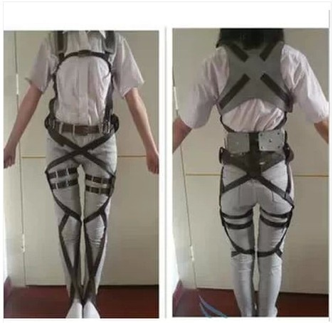 Attack On Titan Japanese Anime Shingeki No Kyojin Recon Corps Harness Belts Hookshot Cosplay Costume Adjustable Belts