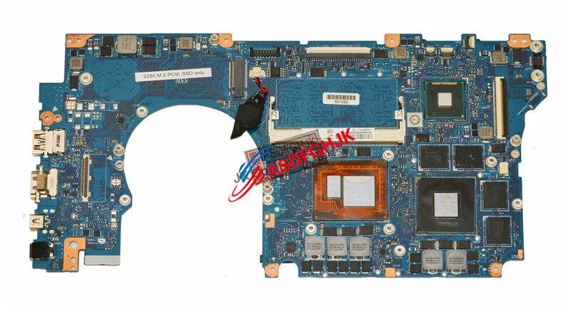 Оригинал для Asus ROG G501JW материнская плата w/i7-4750HQ 2,0 GHz CPU 60NB0870-MB3500 полностью протестирована