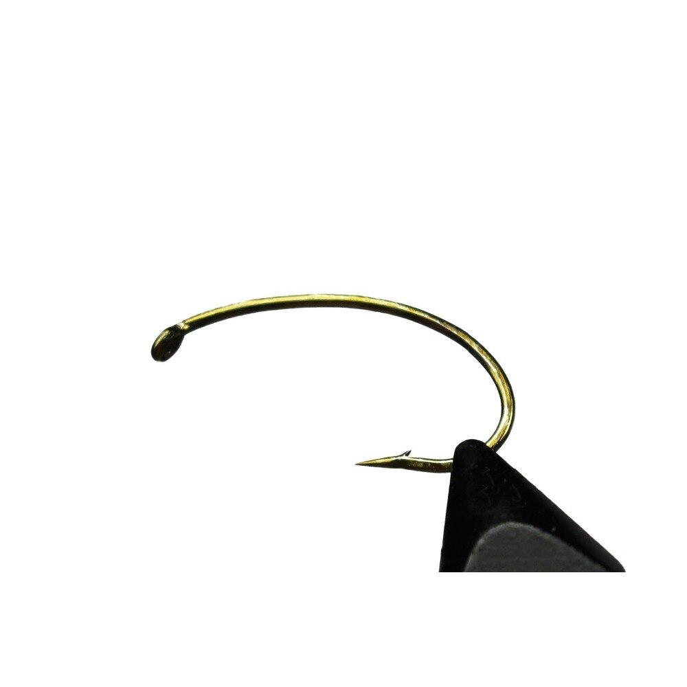 Tigofly 50 pçs/lote voar amarrando ninfa gancho largo-gape scud camarão volta caddis pupa mosca pesca farpado ganchos tamanho 4 # a 18 #
