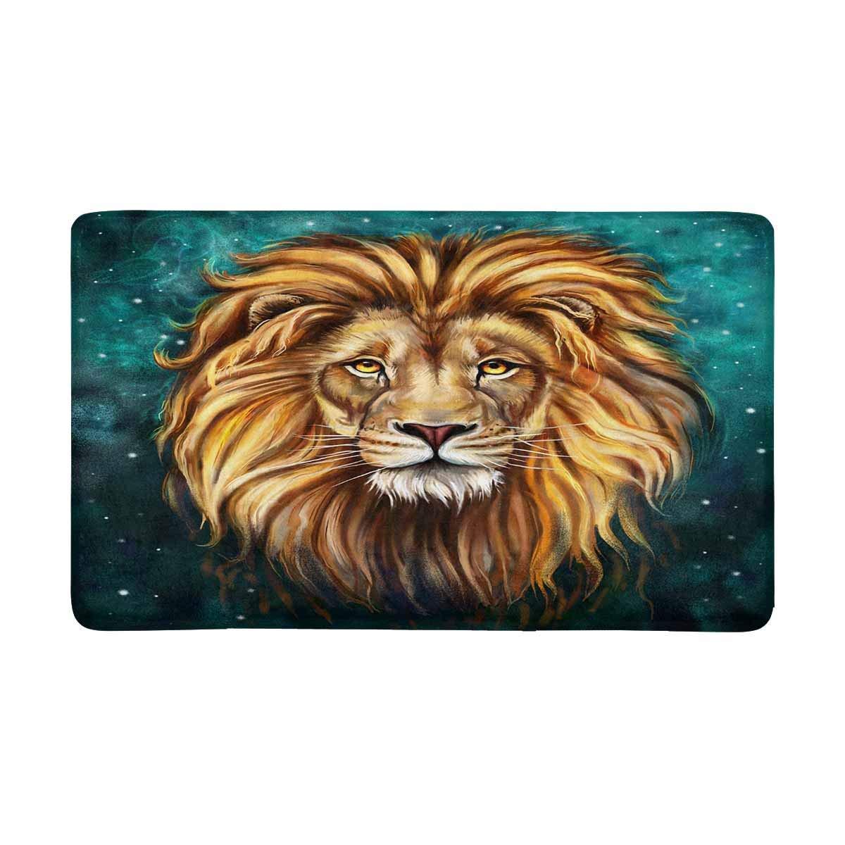 Leão aslan tapete de porta antiderrapante decoração de casa entrada capacho apoio de borracha extra grande