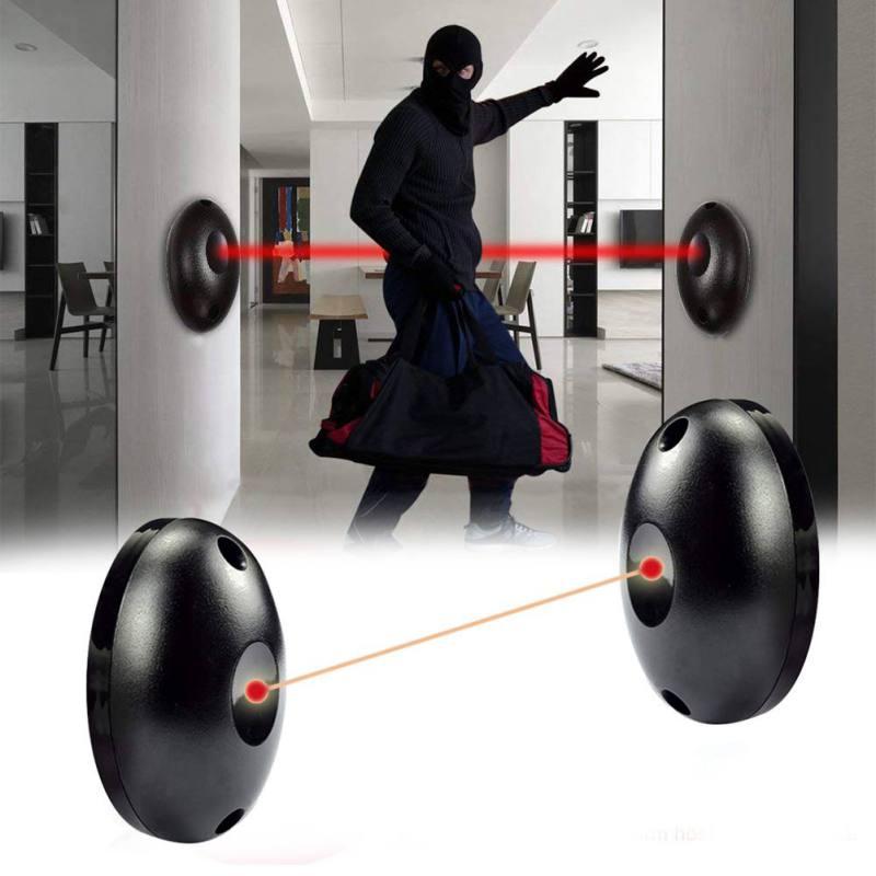 12 V-24 V Poelectric Active Single 1 haz rojo alarma reloj Sensor barrera Detector para puerta ventana ladrón alarma reloj W1