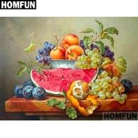 homfun full squareround drill 5d diy diamond painting fruit still life embroidery cross stitch 5d home decor gift a06721