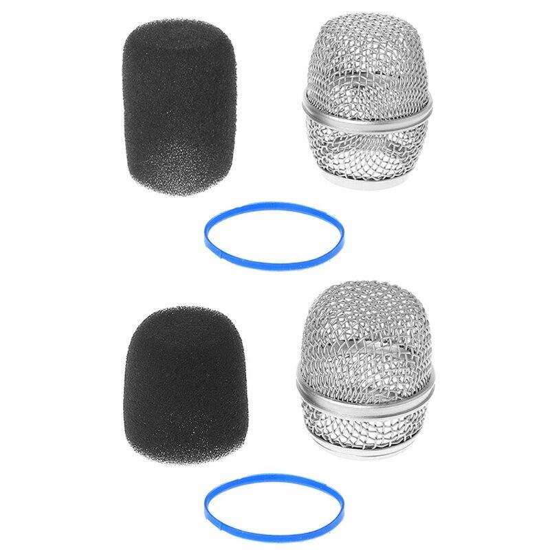 Nova capa de microfone substituição bola cabeça malha microfone grille se encaixa para shure beta57a/beta87a