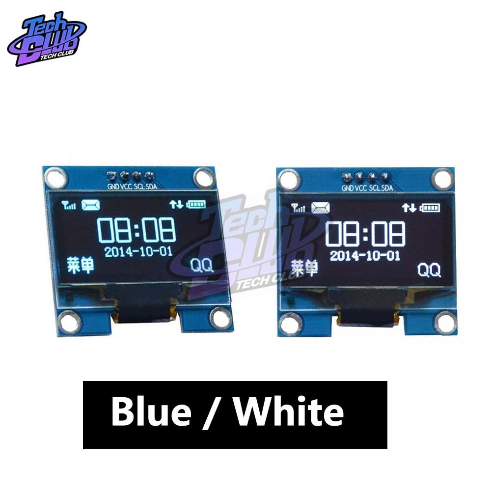 "Cor branca 1.3 Polegada 1.3 ""oled lcd display led módulo 4pin iic i2c interface comunicar 128x64 ssh1106 para arduino 3.3-5v"