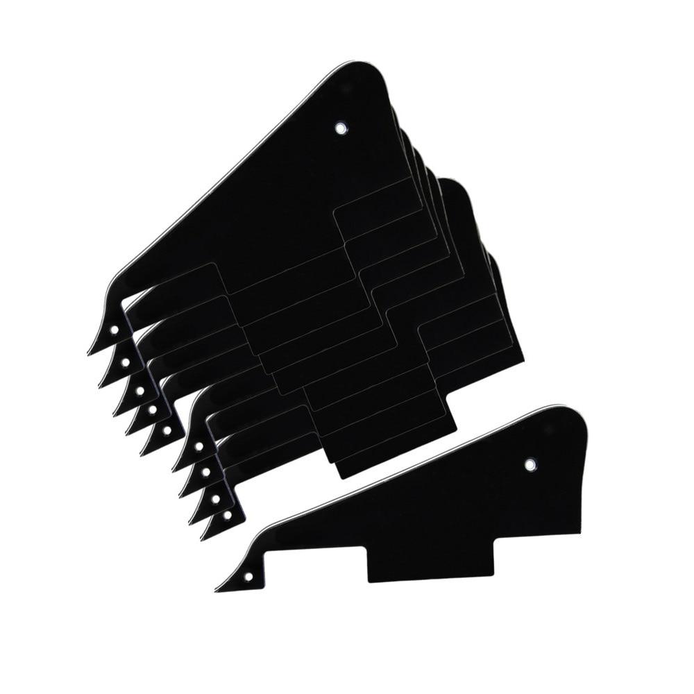 Nuevo 10 unids/pack 3Ply PVC negro guitarra eléctrica golpeador guitarra golpeador estilo LP piezas de repuesto de guitarra