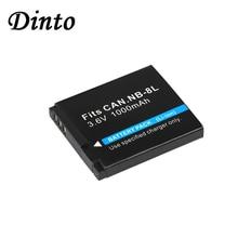 Dinto 3.6V 1000mAh NB-8L Ricaricabile Digitale Batterie Per Foto/Videocamera Pack Per Canon Powershot A2200 A3000 A3100 A3200 NB8L NB 8L