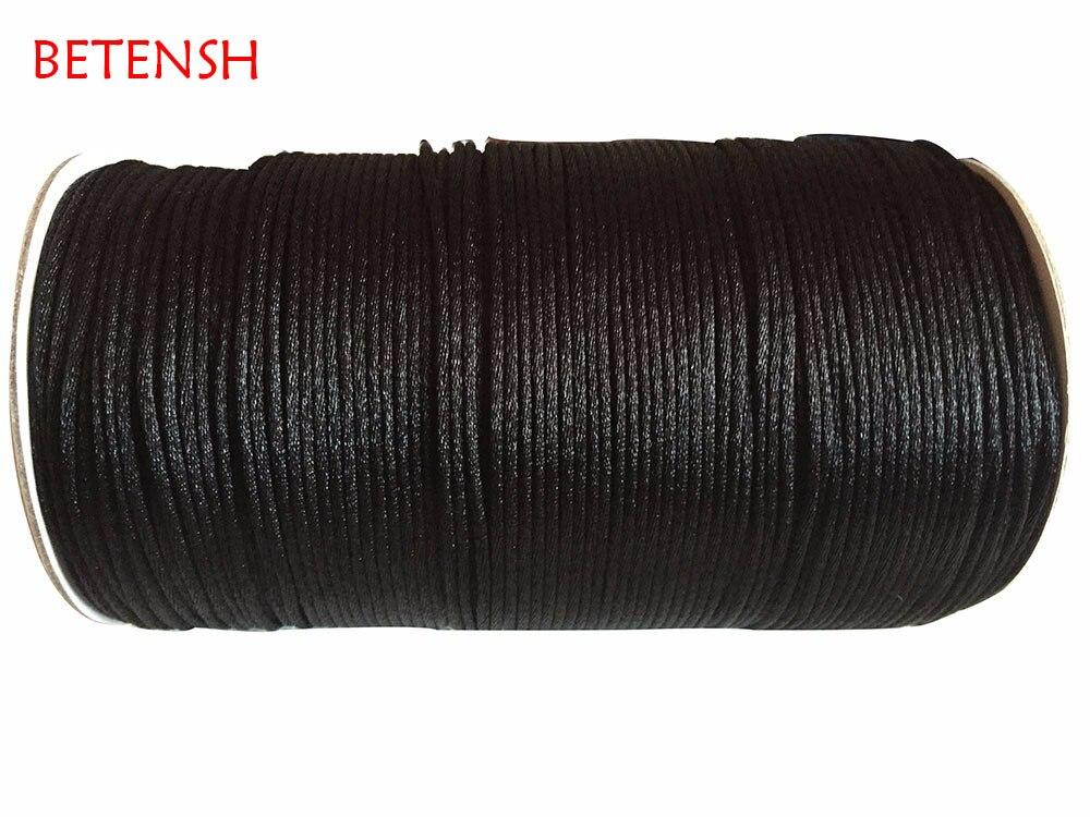 2.5mm Black Rattail Satin Nylon Cord-250M/Roll Jewelry Findings Accessories Macrame Rope  Bracelet Thread Beading Cord