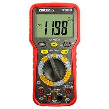 Protmex PT80B 6000 compte multimètre automobile manuel numérique tension cc/ca, courant, résistance, testeur de capacité