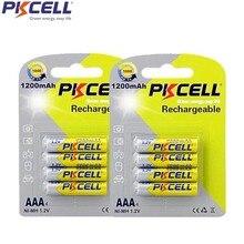8 pièces 2 carte PKCELL aaa 1.2v nimh batterie Rechargeable AAA 1200mAh batterie pour appareil photo jouets appareil photo numérique Portable vidéo