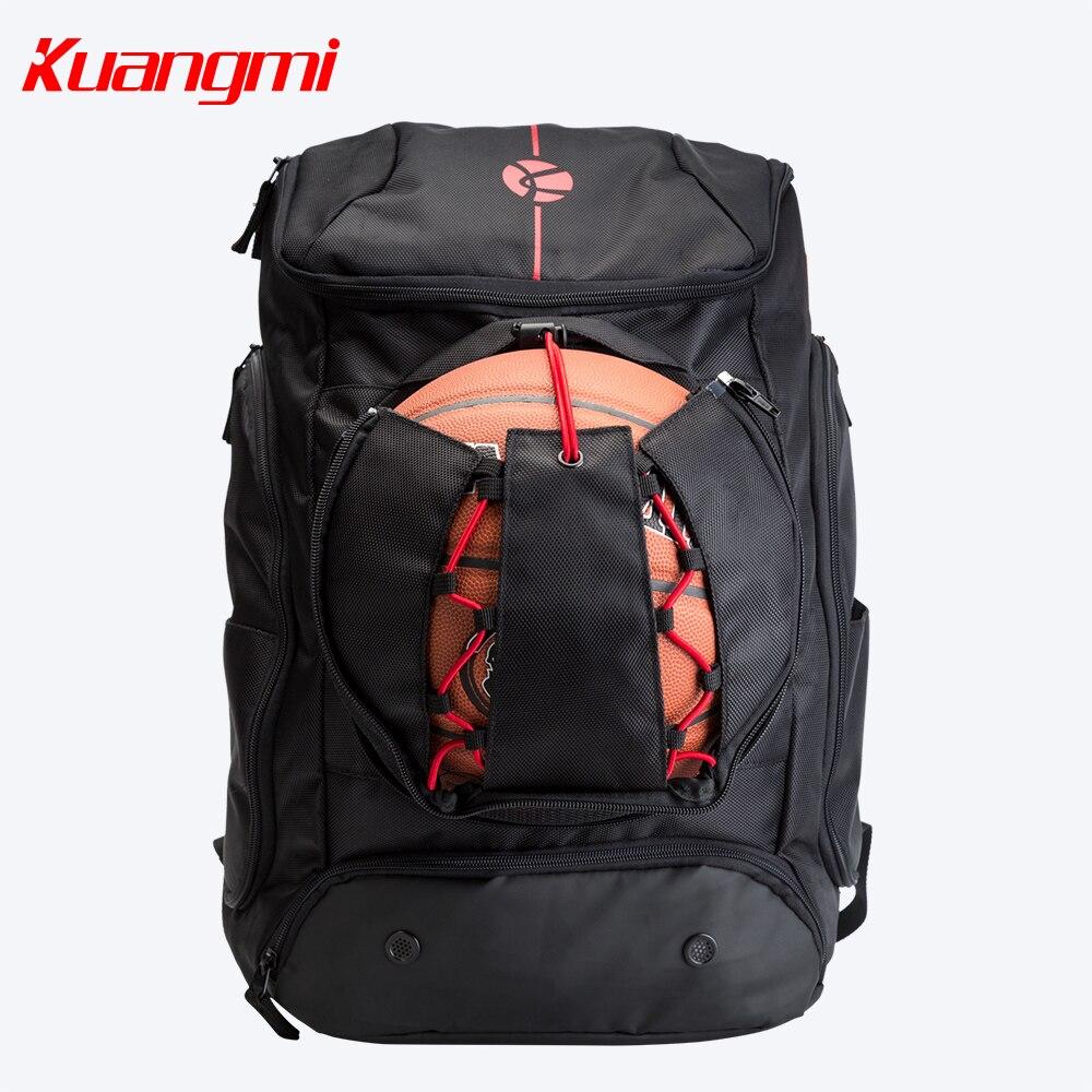 حقيبة كرة السلة Kuangmi 42 L 30 L ، حقيبة ظهر للتدريب ، للرجال والنساء والمراهقين