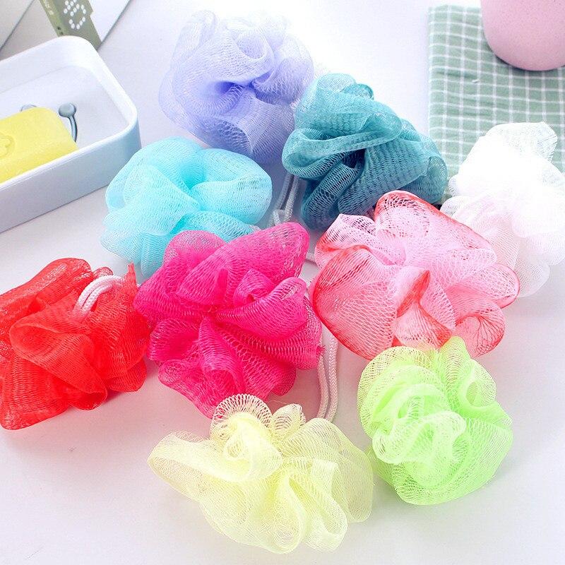 Esponja de malla para Bola de baño Loofah 1/10 Uds. Accesorios para ducha de leche, suministros de flores para baño, cepillo de malla para limpieza corporal súper suave