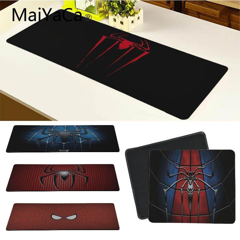 MaiYaCa New Arrivals Spiderman Logo mouse pad gamer play mats Keyboard Mat Desk Mat Computer Game Tablet Game Gaming