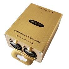 Trasformatore di Isolamento Audio XLR bilanciato XLR Audio isolatore Analogico AES/EBU Audio isolatore