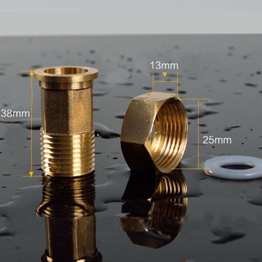 "DN20 3/4 ""BSP giro hembra DN15 1/2"" BSP rosca macho latón Hex reductor tubo conector Polo tuerca para agua"