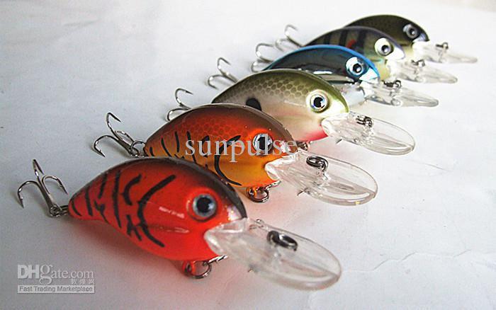 8g/5cm lip 20mm Crank Bait Fishing Lure Hard Plastic Bait Floating type China Hook Lip Length 20mm depth 0-0.5m