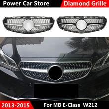 W212 diamant Chrome gril avant calandre préfacelift pour Mercedes classe E W212 avant course Grill Sport E320 E350 E400 C207