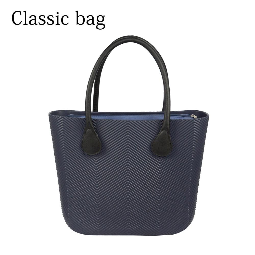 ¡Novedad de 2019! Bolso EVA grande clásico de estilo Obag con bolsillo interior, asas coloridas, bolso O a prueba de agua, bolso de mujer, bolso de bricolaje