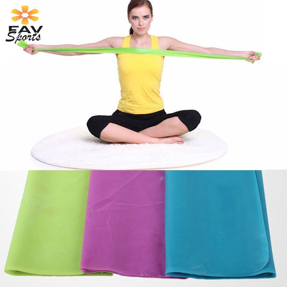 Bandas de resistencia de goma para Fitness 1,2 m cinturón de Yoga elástico para entrenamiento deportivo bandas elásticas para ejercicios de Pilates