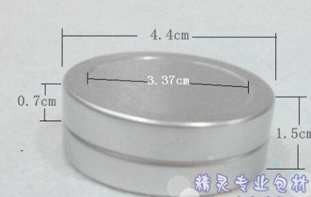 20g الألومنيوم جرة التجميل الحاويات 100 قطعة/الوحدة عالية الجودة ماكياج مصنع الحاويات بالجملة