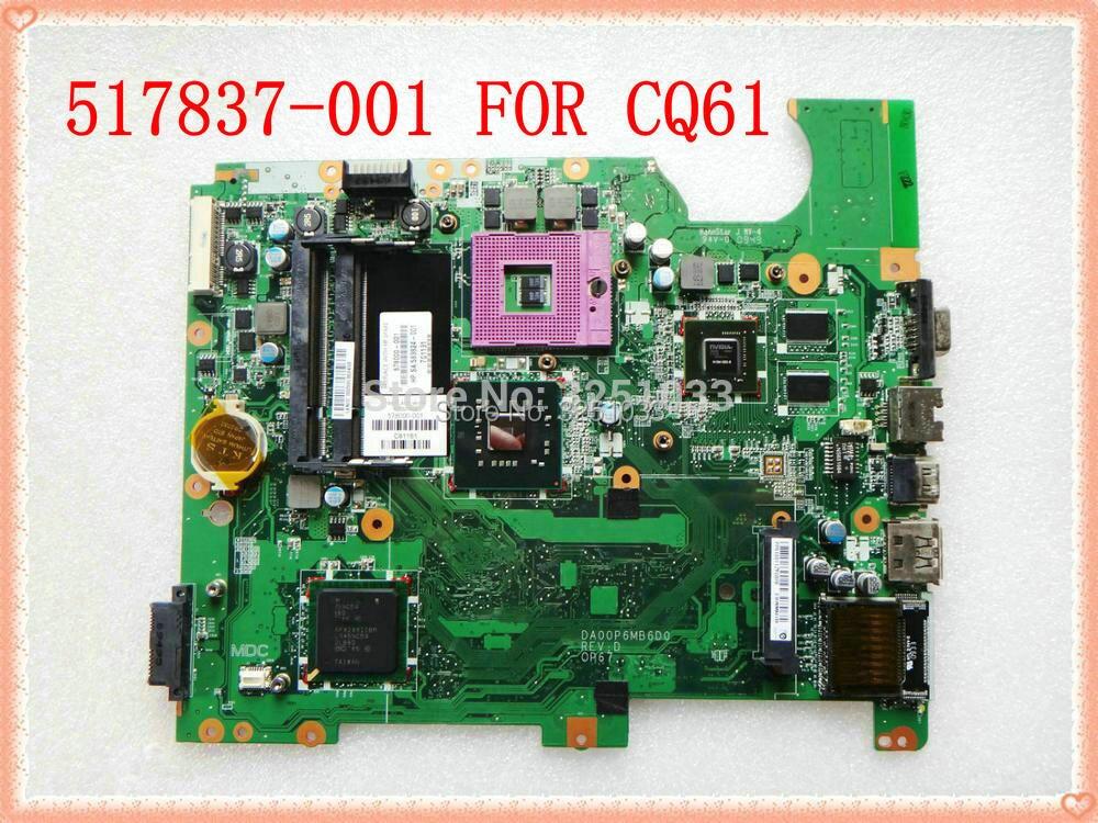 لوحة أم للكمبيوتر الدفتري Compaq Presario CQ61 DAOOP6MB6D0 ، تم اختبار اللوحة الأم لـ HP Compaq presario CQ61 G61 ، شرائح PM45 ، اختبار جيد ، 517837-001