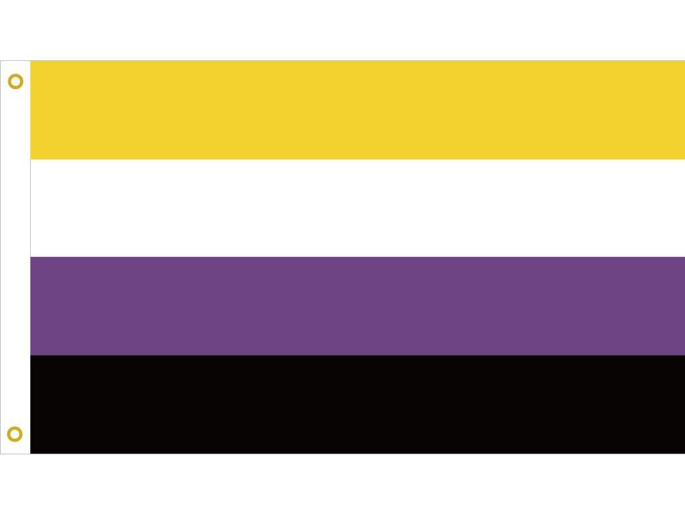 Bandera del orgullo no binario 90*150cm LGBT 3X5FT Banner 100D de poliéster de latón arandelas personalizadas para Barra de fiesta