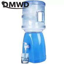 DMWD Mini Water Pump Dispenser Desktop Fountains Gallon Drinking Bottle Switch Base Bucket Holder Manual Press Barrel Tap Faucet