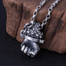 2020 nowy S925 srebro wisiorek dla mężczyzn Thai biżuteria srebrna retro pop kreatywny władcze Hercules fist męska wisiorek