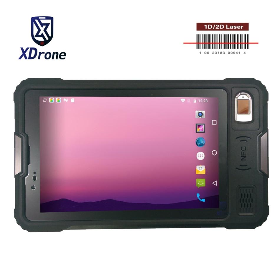 "2019 original Kcosit P9000 robusto Android Tablet PC 8 ""lector de huellas digitales resistente al agua PDA Terminal móvil 4G UHF RFID"