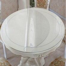PVC Wasserdichte Tischdecke Runde tischdecke Tisch Abdeckung Transparent küche muster öl tischdecke glas weichen tuch 1,0mm matte