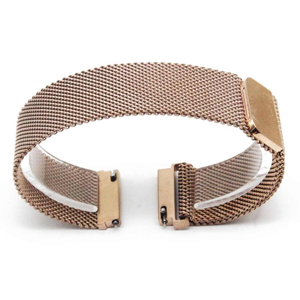 Stainless Steel Watch Band 16mm 18mm 20mm 22mm 23mm for Jacques Lemans Magnetic Clasp Strap Quick Release Loop Belt Bracelet
