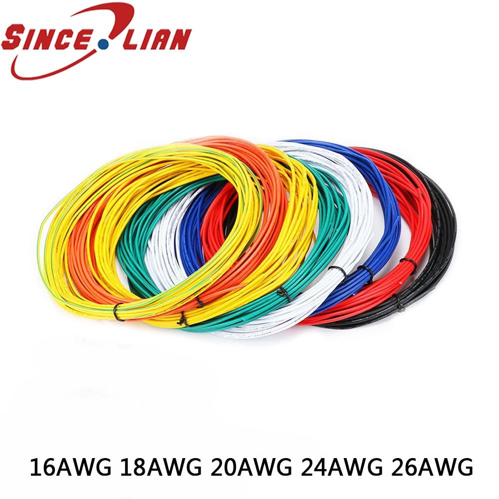 Câble de fil électronique environnemental   Original, 20 M/LOT, 16AWG 18AWG 20AWG 22AWG 24AWG 261007, Certification UL électronique