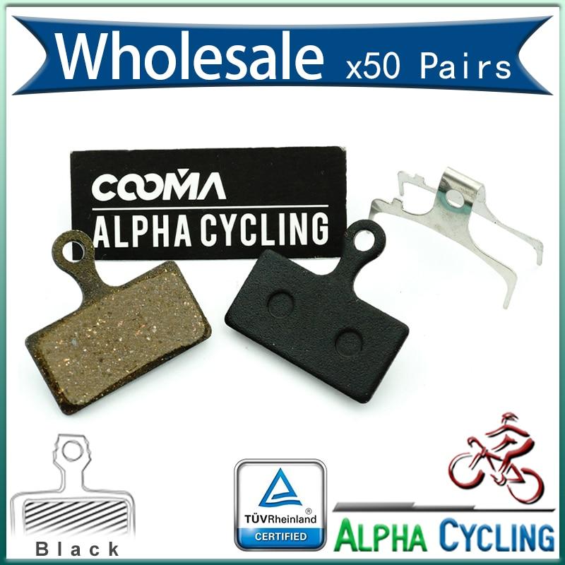 Bicycle Disc Brake Pads FOR M985, M988, Deore XT M785, SLX M666, M675, Deore M615, Alfine S700 Disc Brake, Resin, 50 Pr, BP006
